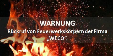 WARNUNG: Rückruf von Feuerwerkskörpern